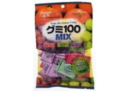 Żelki Owocowe MIX | Fruits Mix Gummy Candy (Apple, Muscat, Grape) 102g Kasugai